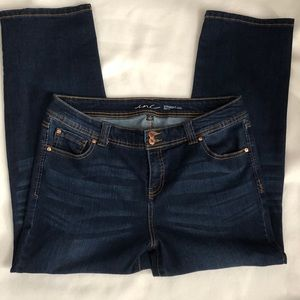 Inc Women's Sz 14 Jeans Straight Leg Curvy Fit